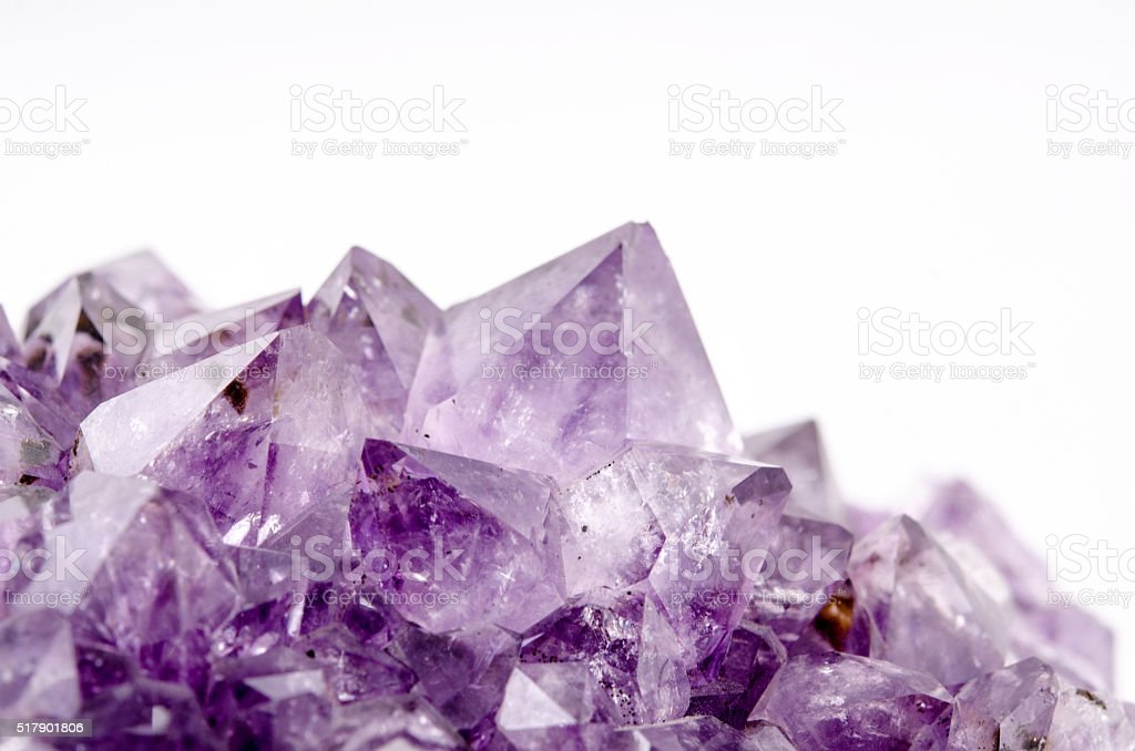Amethyst crystal stock photo