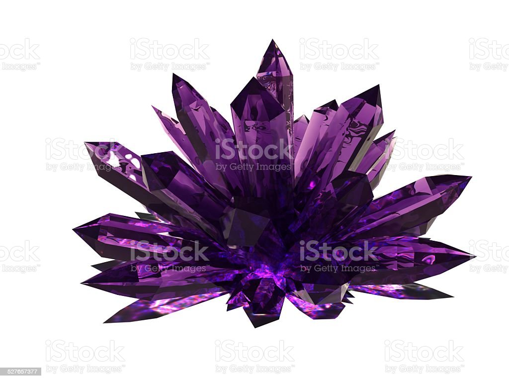 Amethyst druze stock photo
