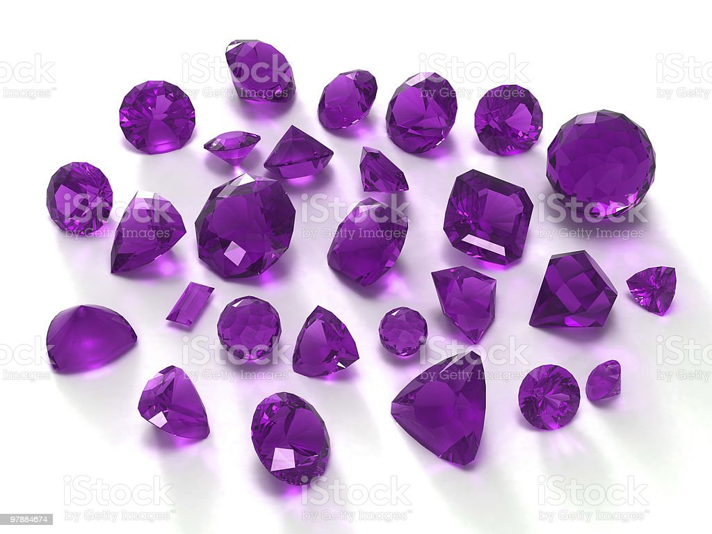 Amethyst gems royalty-free stock photo