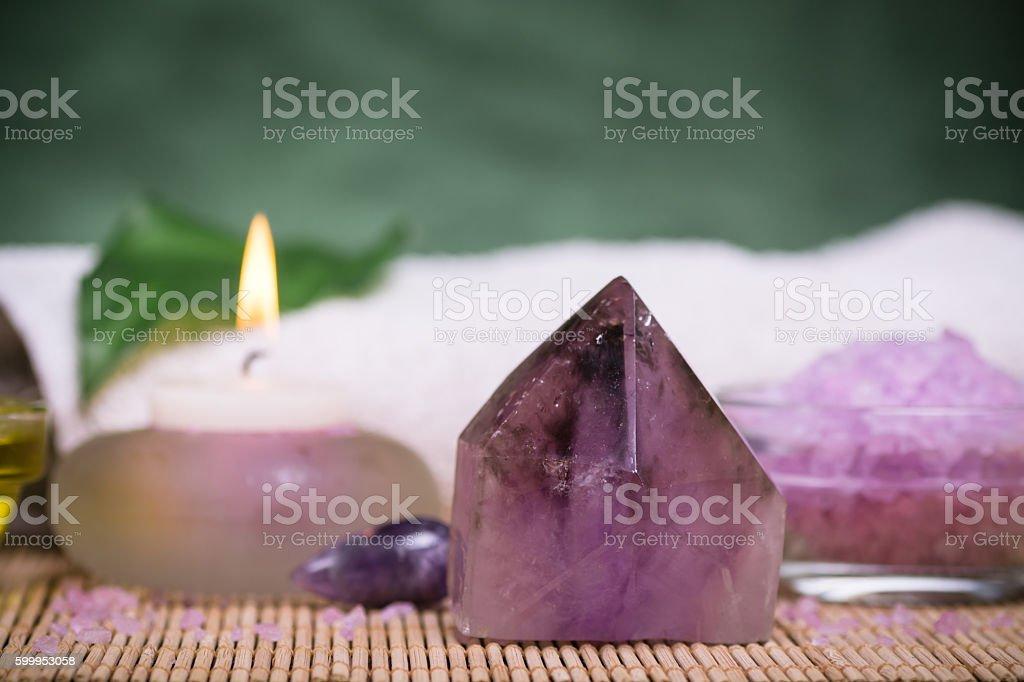 Amethyst gemstone stock photo