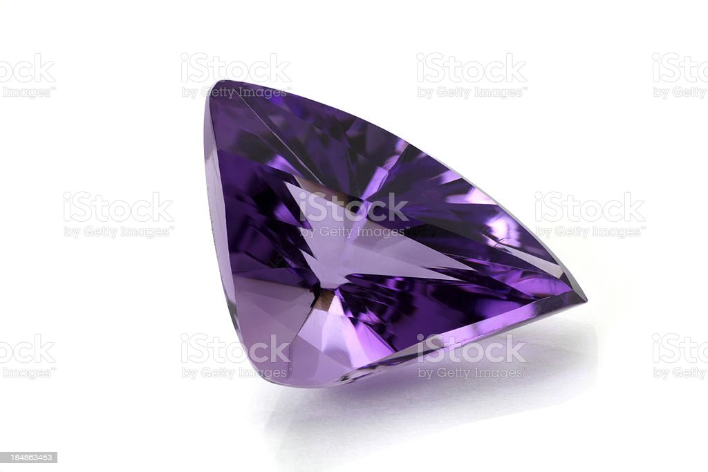 Amethyst in Free Form royalty-free stock photo