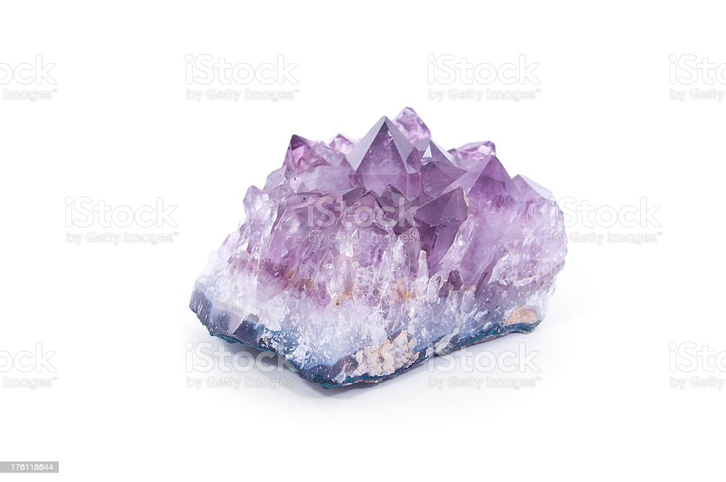 Amethyst Isolated on White royalty-free stock photo
