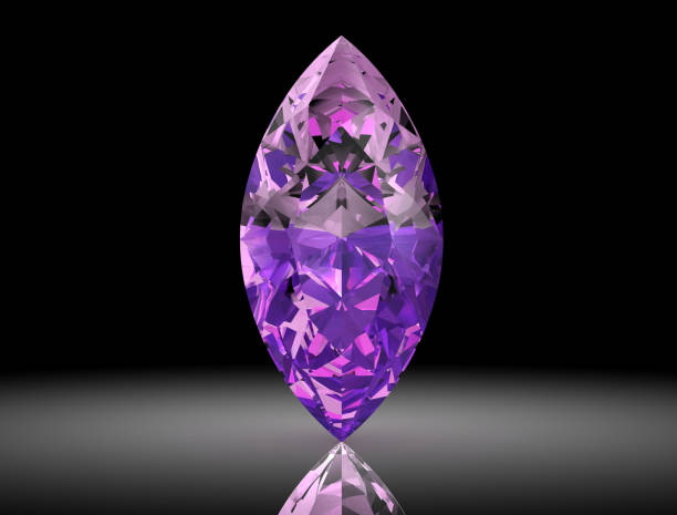amethyst jewel ((high resolution 3D image) stock photo