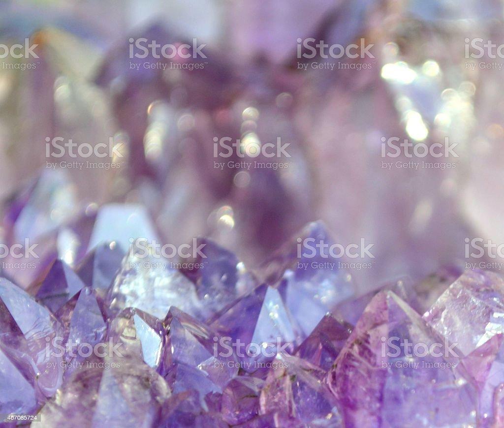 Amethyst landscape stock photo