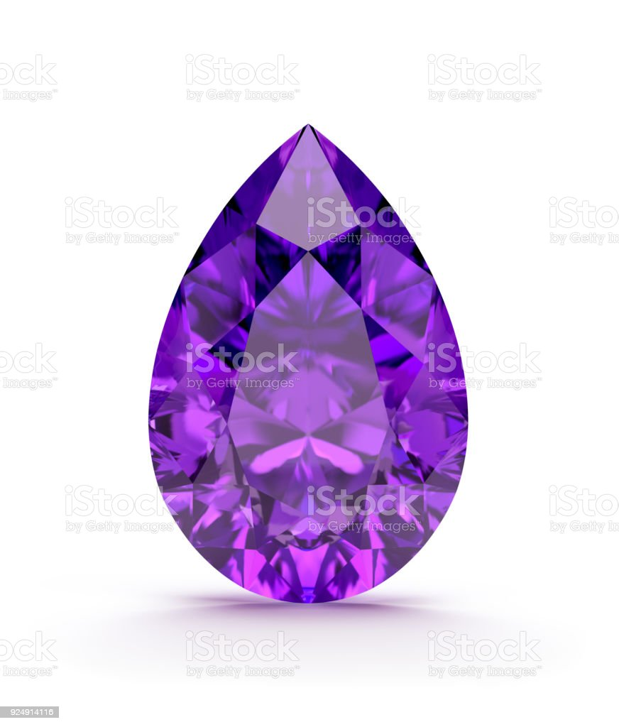 Amethyst precious stone stock photo
