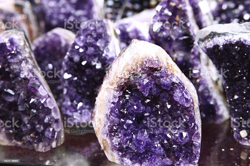Amethyst Semi Precious Rock Rough Cut royalty-free stock photo