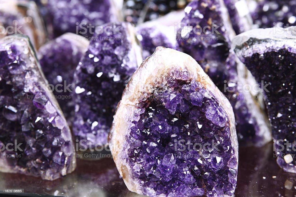 Amethyst Semi Precious Rock Rough Cut stock photo