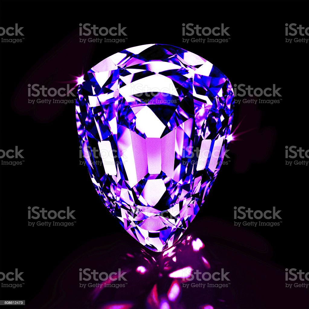 Amethyst - the stone of protection stock photo