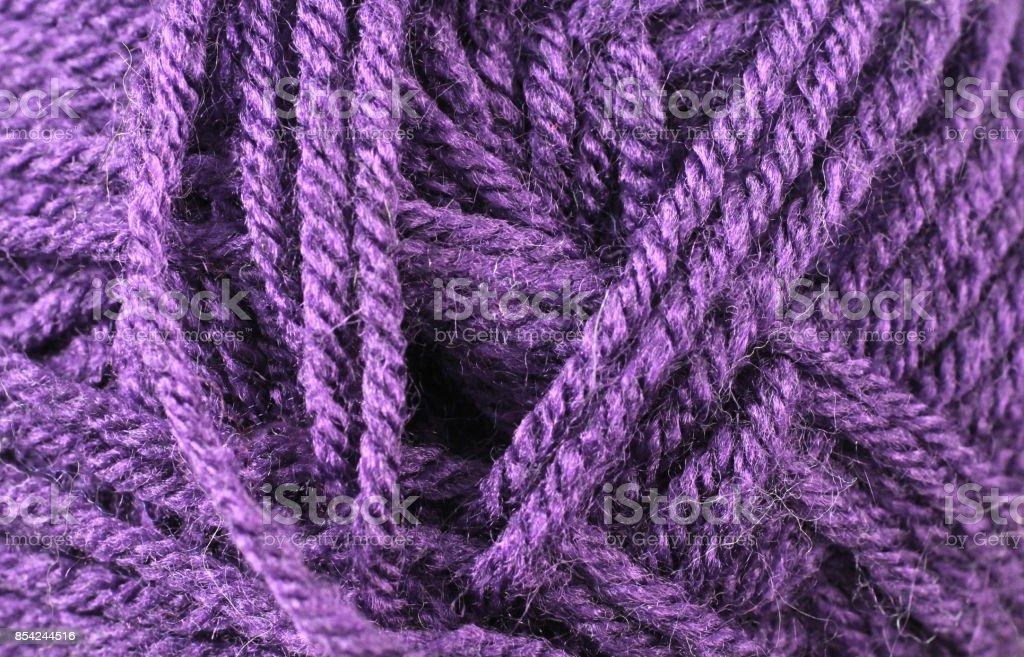 Amethyst Yarn Texture Close Up stock photo