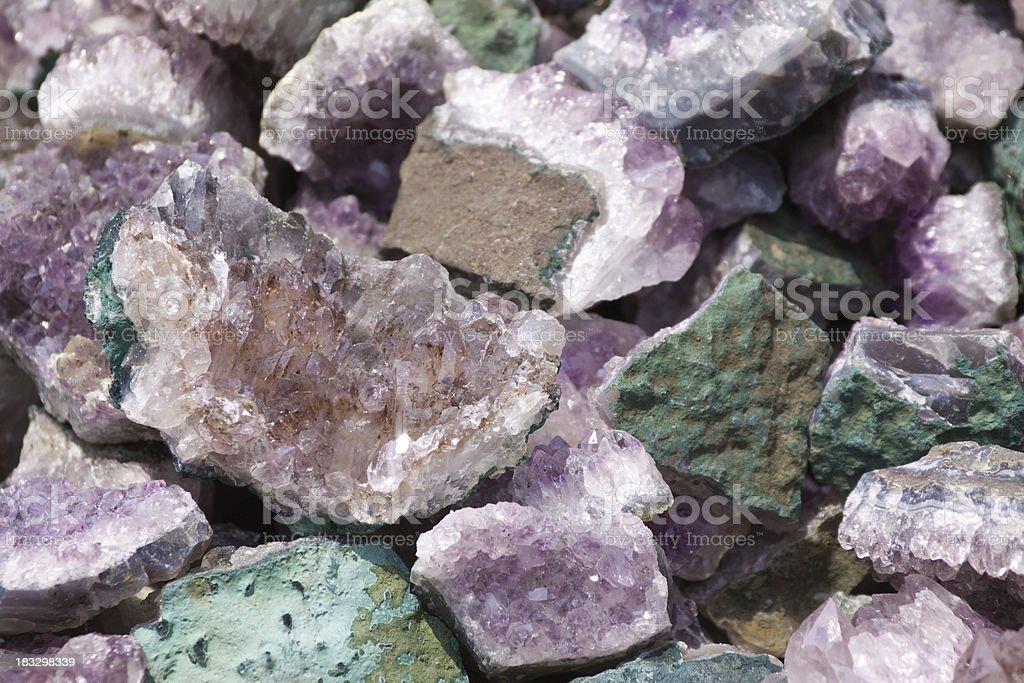 amethysts royalty-free stock photo