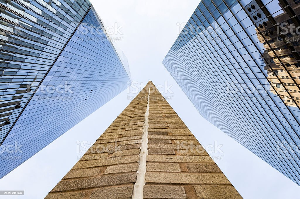 Amidst the World Trade Center stock photo