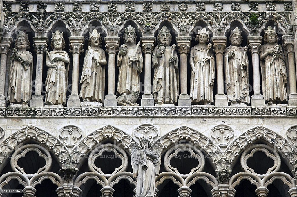Amiens (Picardie, France) - Cathedral exterior, detail stock photo