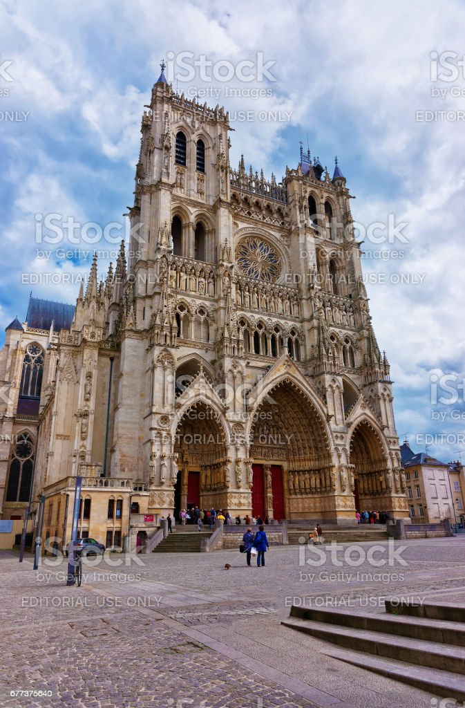 Amiens Cathedral of Our Lady in Somme  Hauts de France stock photo
