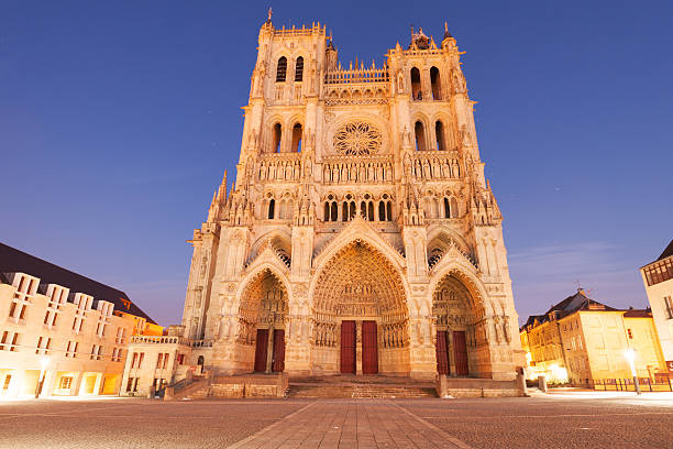 Amiens cathedral Famous Cathedral Basilica of Our Lady of Amiens, Picardy, France hauts de france stock pictures, royalty-free photos & images