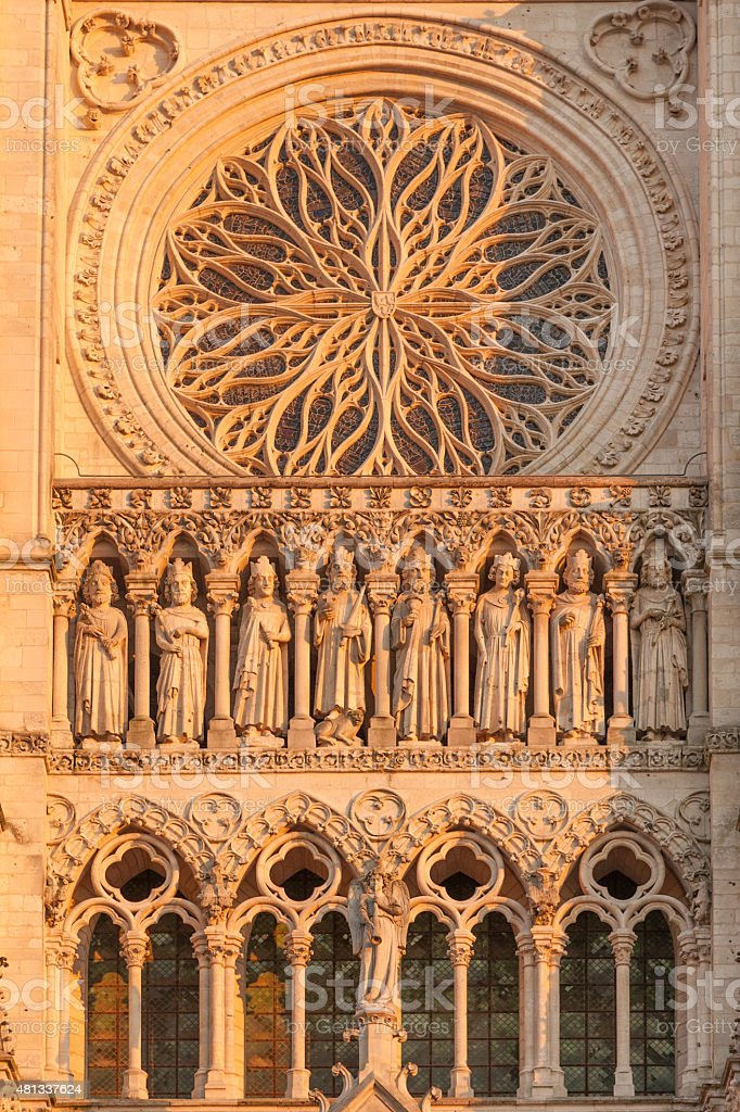 Amiens cathedral stock photo