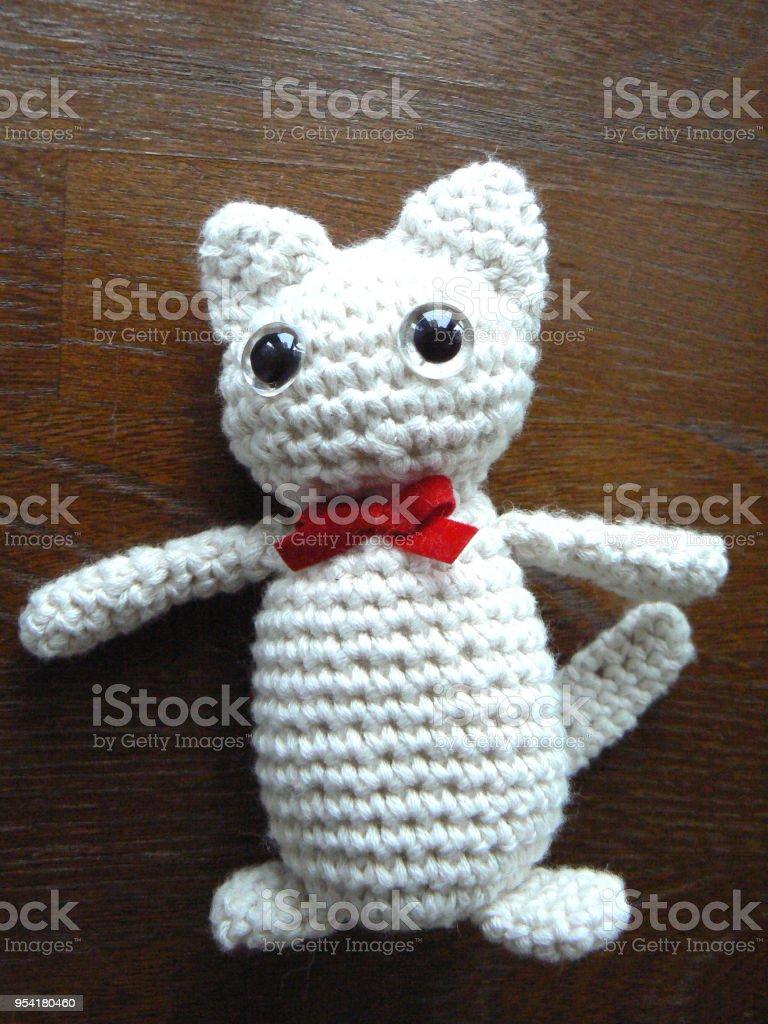 Gato Amigurumi - foto de acervo