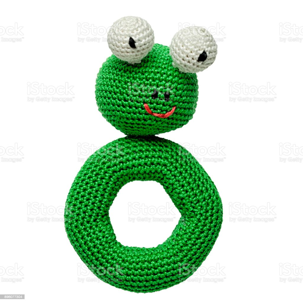 Amigurumi crocheted frog toy isolated on white background stock amigurumi crocheted frog toy isolated on white background royalty free stock photo bankloansurffo Gallery