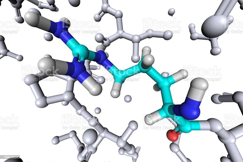 Amino Acid Arginine stock photo