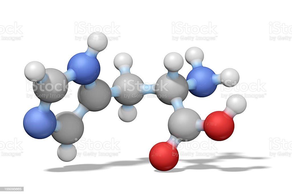 Amino Acid Histidine royalty-free stock photo