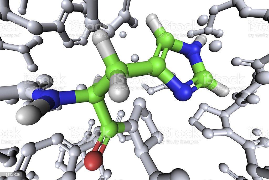 Amino Acid Histidine stock photo