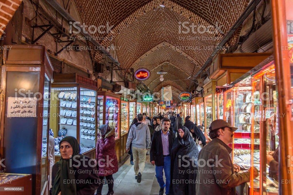 Amir Bazaar or Gold Bazaar in Tabriz. East Azerbaijan province. Iran zbiór zdjęć royalty-free