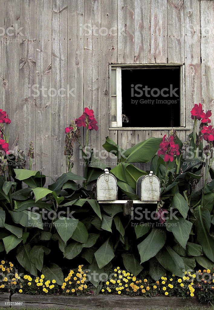 amish barn window stock photo
