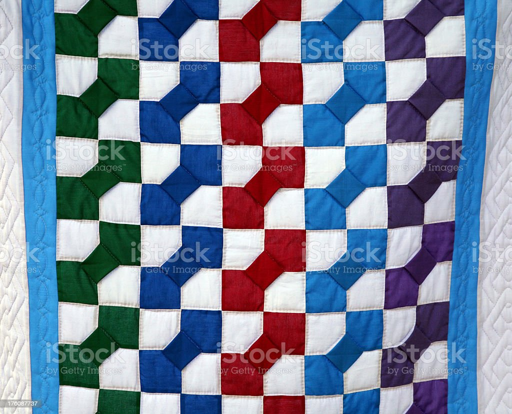 Amish Bow Tie Quilt Royalty Free Stock Photo