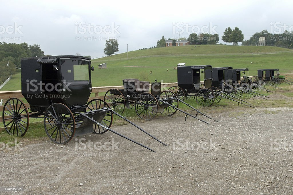 Amish car dealer stock photo