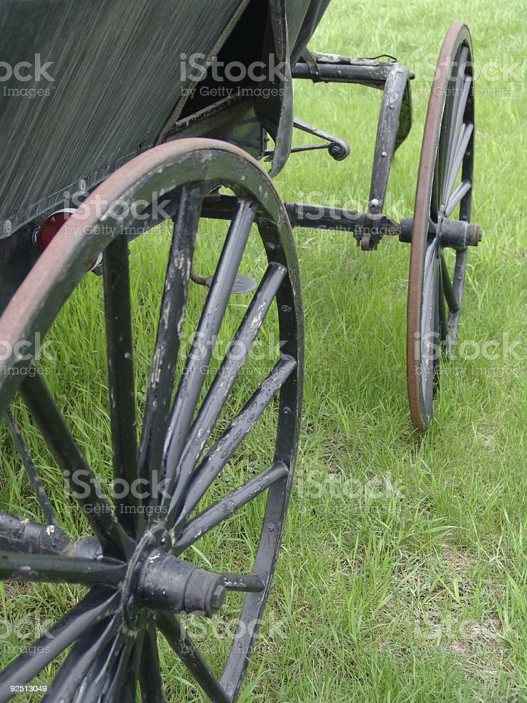 Amish carriage detail royalty-free stock photo