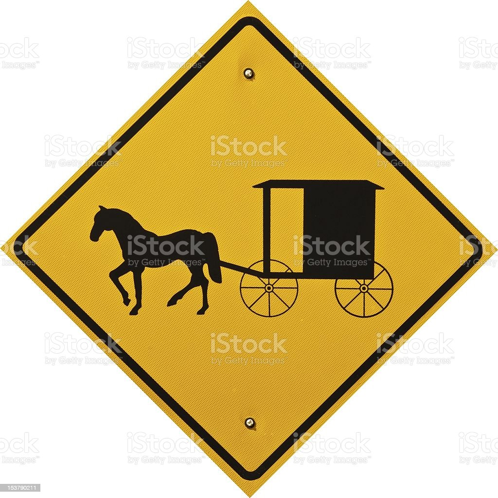 Amish Cart and Buggy Sign stock photo