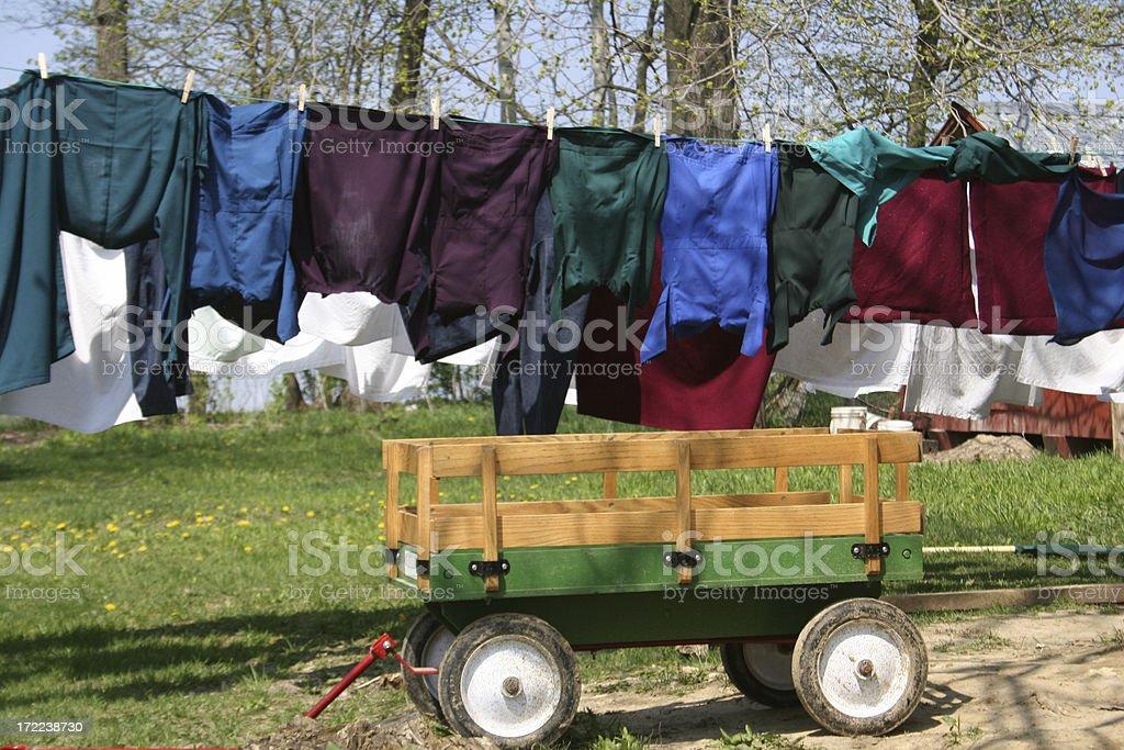Amish Clothesline royalty-free stock photo