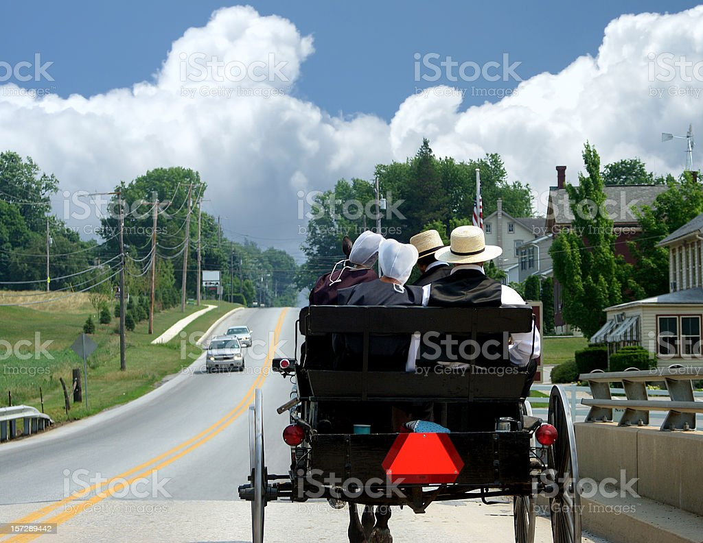 Amish Courting Buggy stock photo