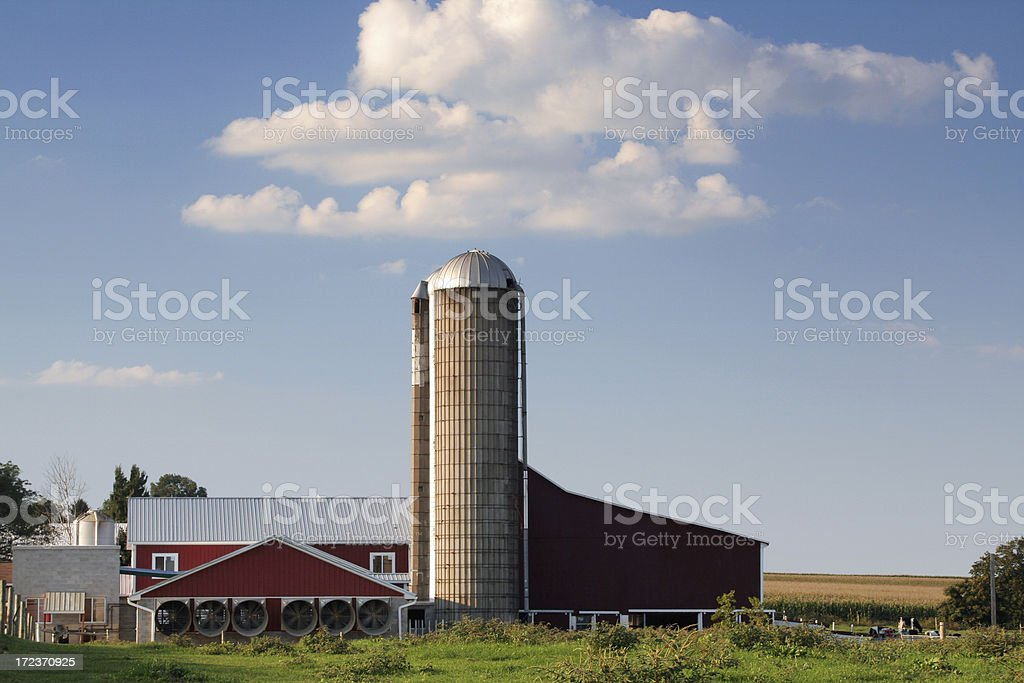 Amish farm in Lancaster county of Pennsylvania royalty-free stock photo