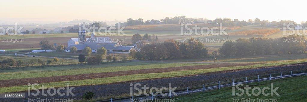 Amish farm stock photo