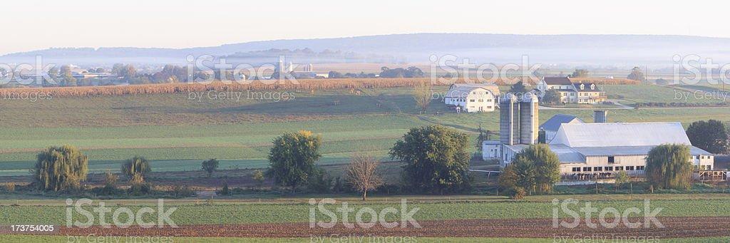 Amish farm royalty-free stock photo