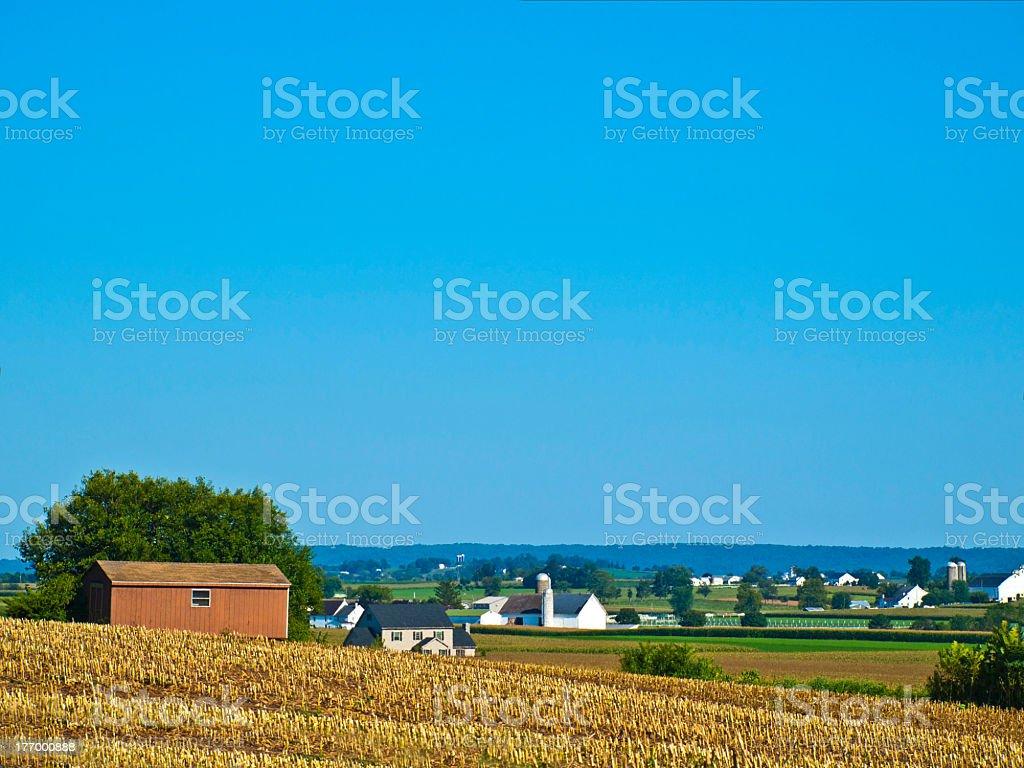 Amish Farms, Lancaster USA stock photo