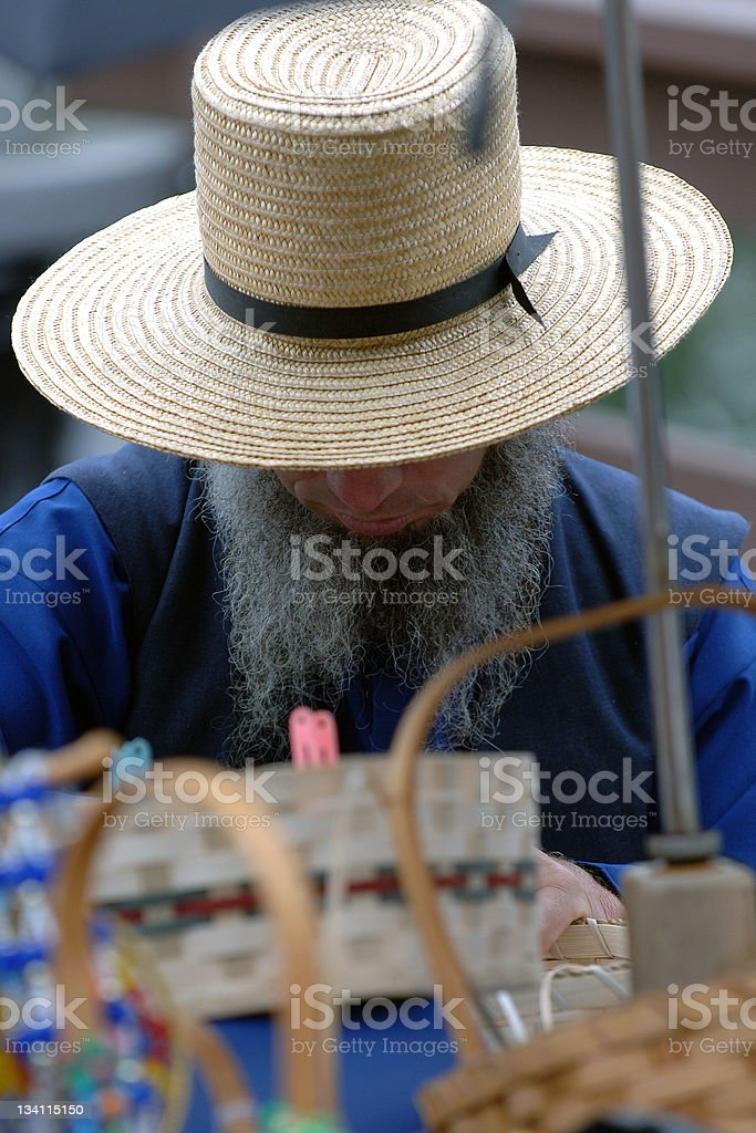 amish man stock photo