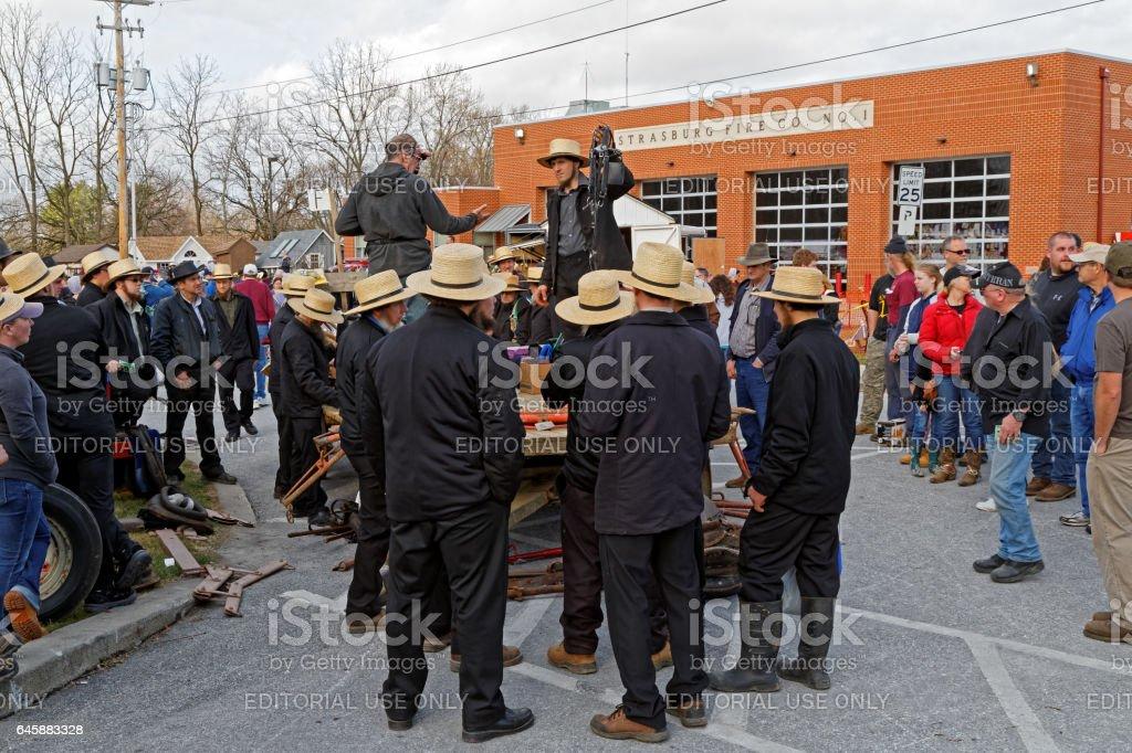 Amish Mud Sale stock photo