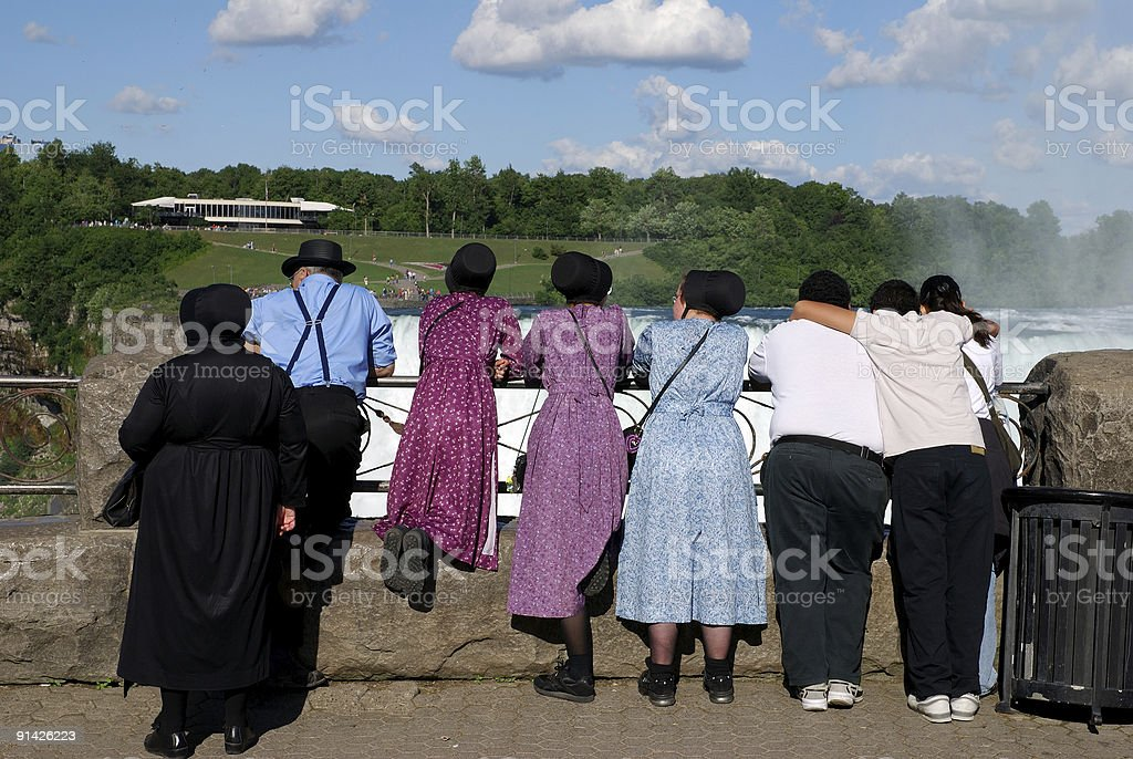 Amish people stock photo