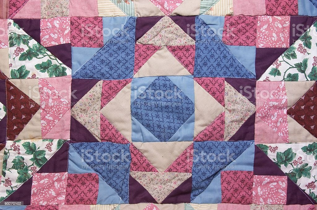 Amish Quilt Pattern royalty-free stock photo