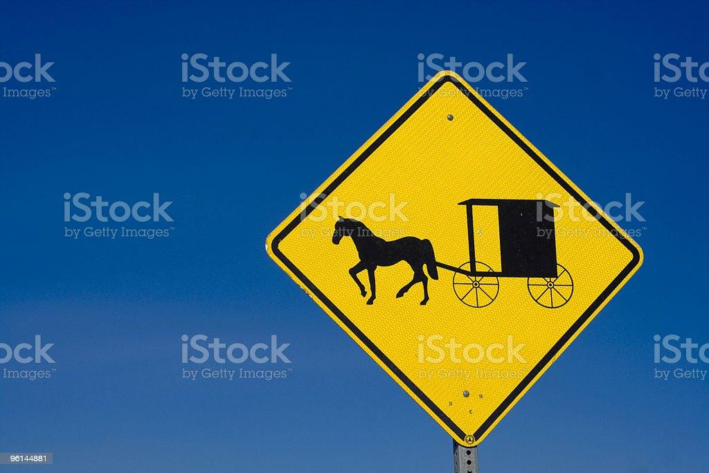 Amish Road Sign stock photo