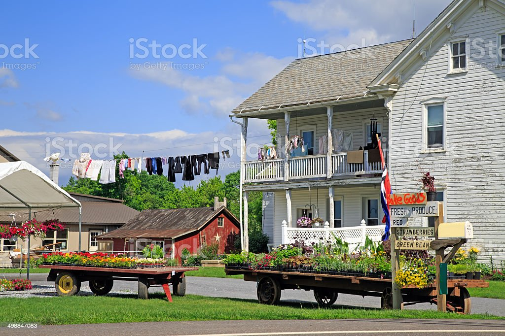 Amish Roadside Market stock photo