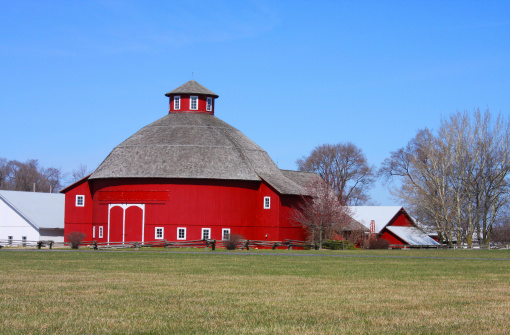 Amish Round Barn Stock Photo - Download Image Now