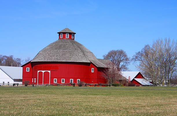 Amish Round Barn stock photo