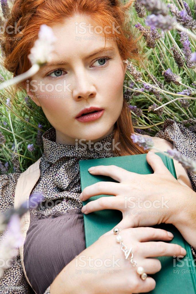 Amish woman stock photo