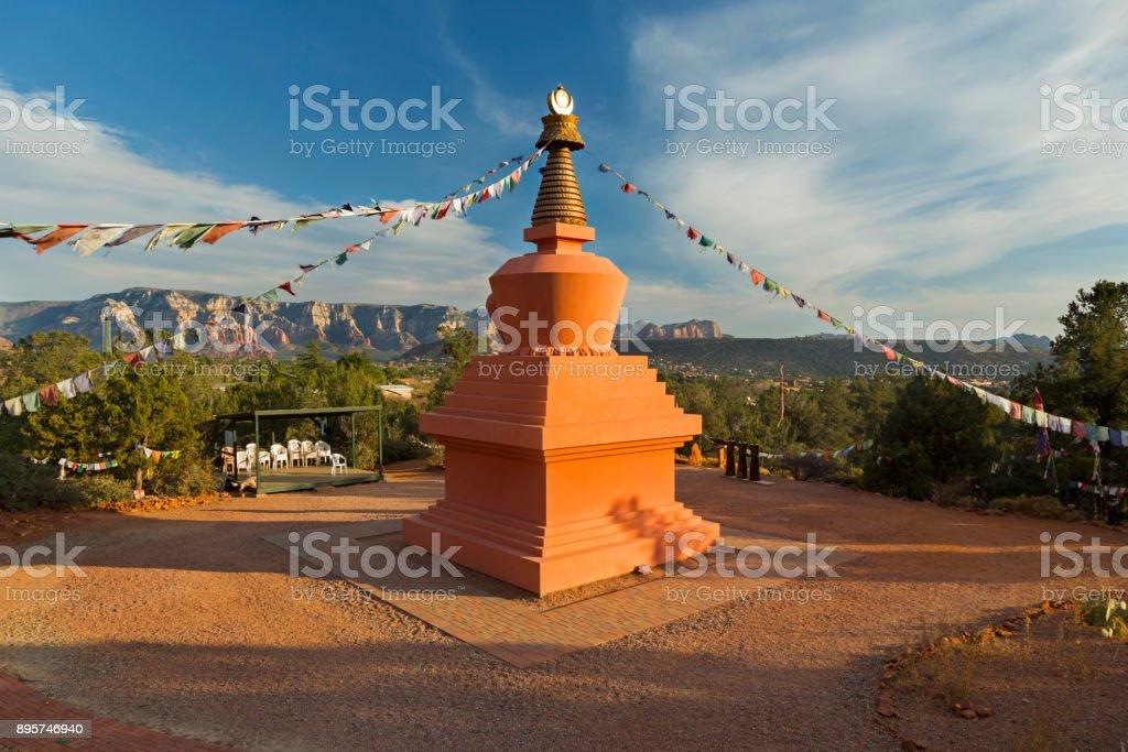 Amitabha Stupa Peace Park Sedona Arizona stock photo
