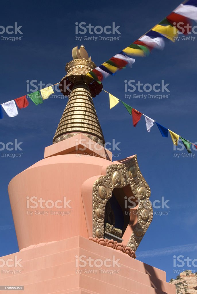 Amitabha Stupa stock photo
