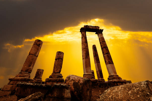 amman citadel - empire stock pictures, royalty-free photos & images