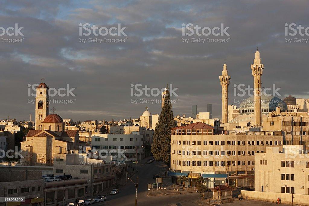 Amman, King Abdullah Mosque stock photo