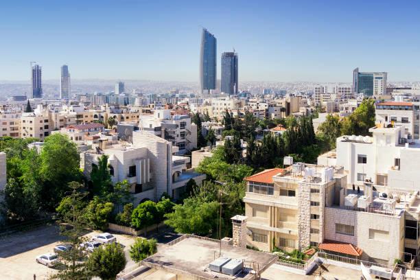 skyline de amman - jordan photos et images de collection